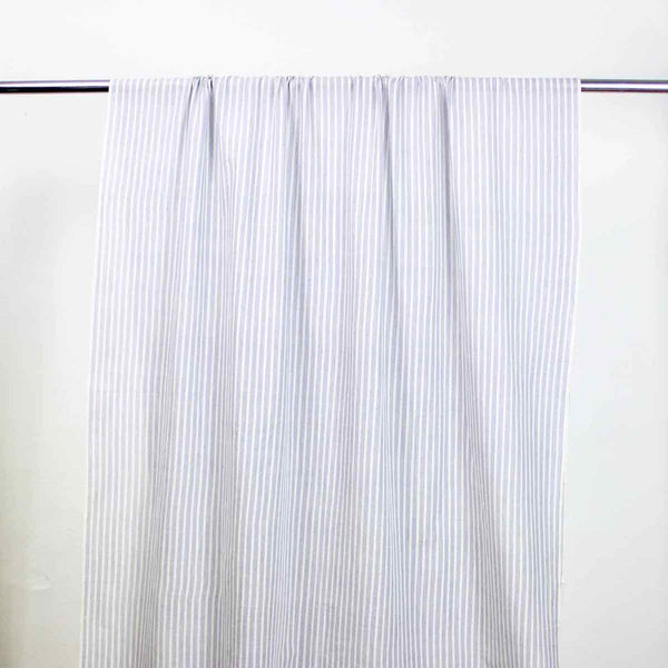 Airy Stripe Blue and White Handloom Cotton