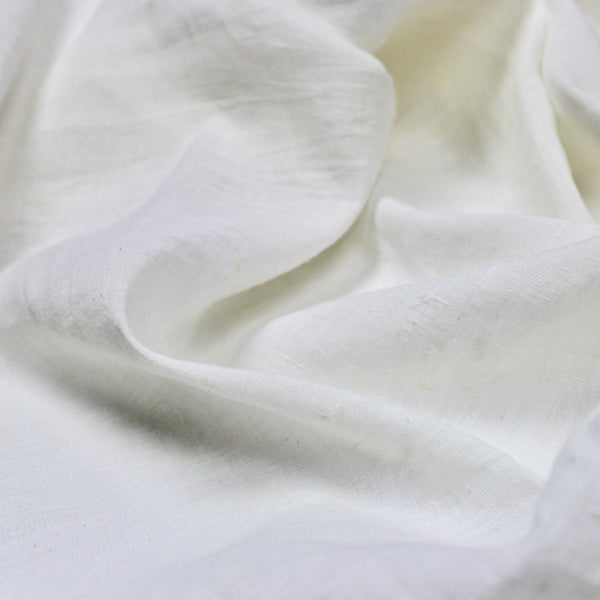 White Linen and Cotton Khadi Handwoven Fabric