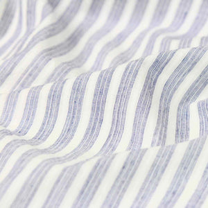 Swatch — Airy Stripe Blue and White Handloom Cotton