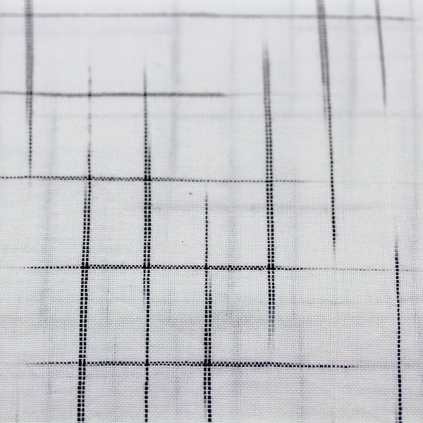 Crosshatch Black and White Handwoven Cotton Fabric