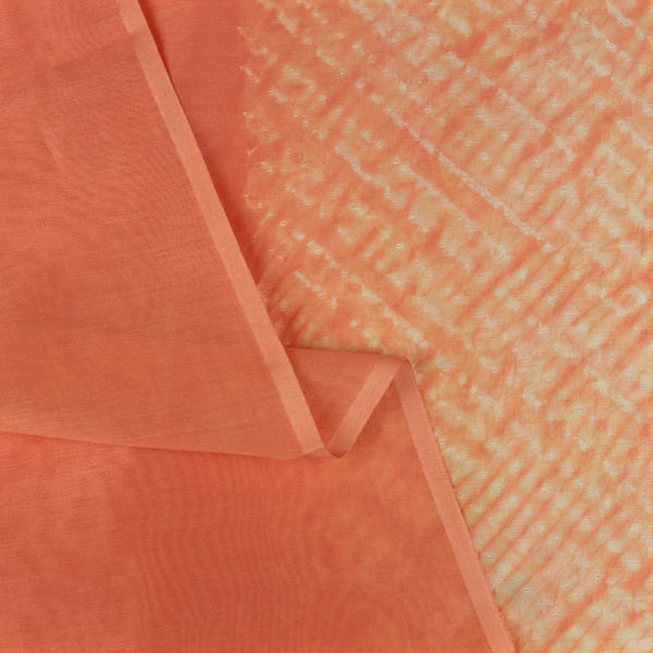 Coral Stripes Shibori Silk/Cotton