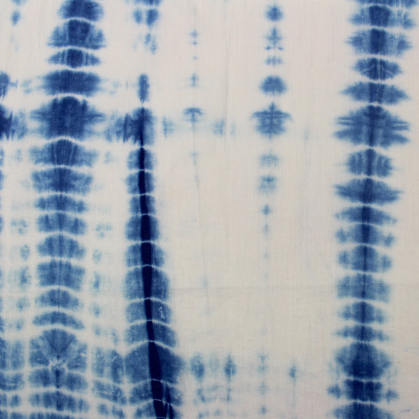 Indigo Hand-Dyed Shibori Cotton Fabric
