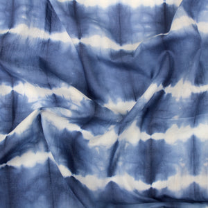 Cross Stripe Indigo Shibori