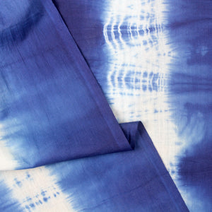 Striped Natural Indigo Shibori Fabric