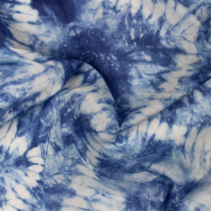 Natural Indigo Dyed Shibori Cotton Fabric