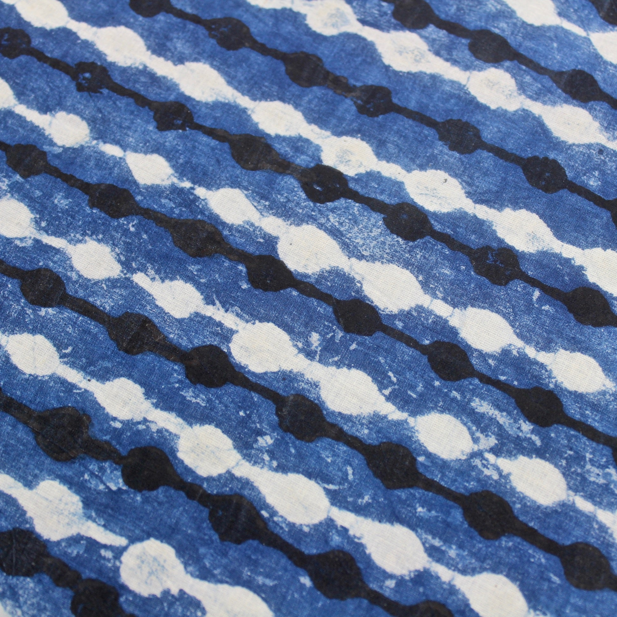 String of Dots Block Print