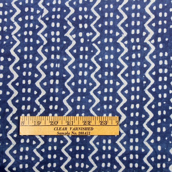 Zig-Zag Stripe Block Print — 2.6 Yard Remnant — Imperfect