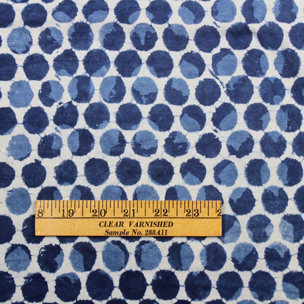 Polka Dot Indigo Block Print Cotton