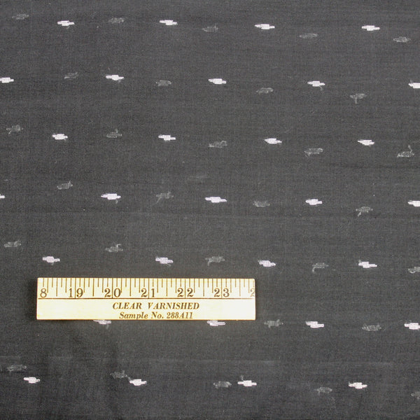 Black and White Handloom Jamdani Cotton Fabric