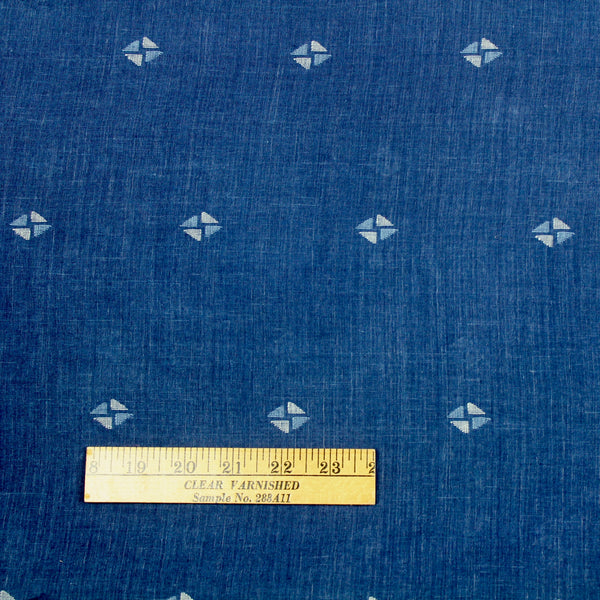 Indigo Blue Natural Dye Jamdani Cotton Handloom Fabric