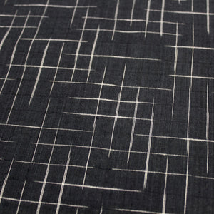 Disappearing Check Handloom Cotton - Black with White