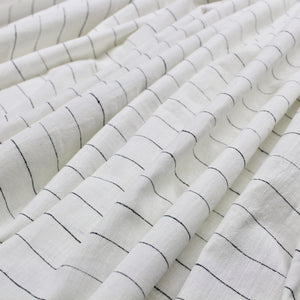 White with Black Stripe Handloom Cotton
