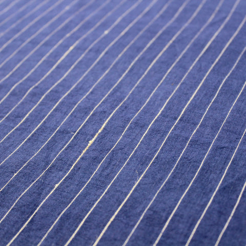 Deep Indigo Grid Naturally Dyed Handloom Cotton Fabric