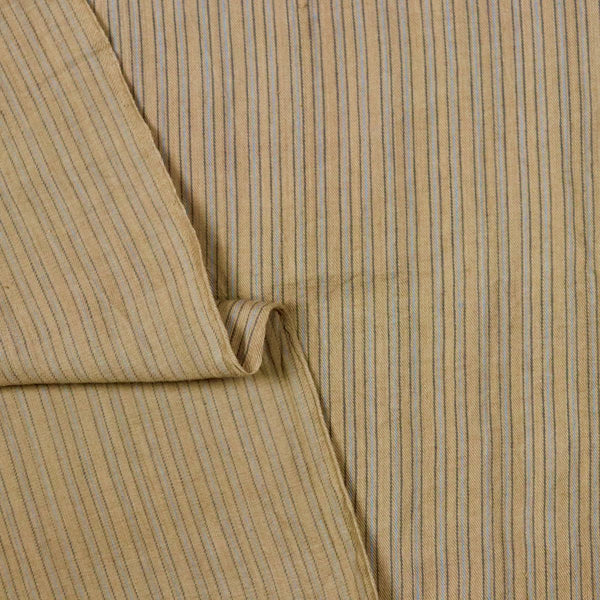 striped natural dye handwoven cotton fabric