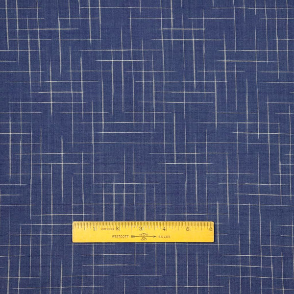 dark blue checks handwoven cotton sewing fabric