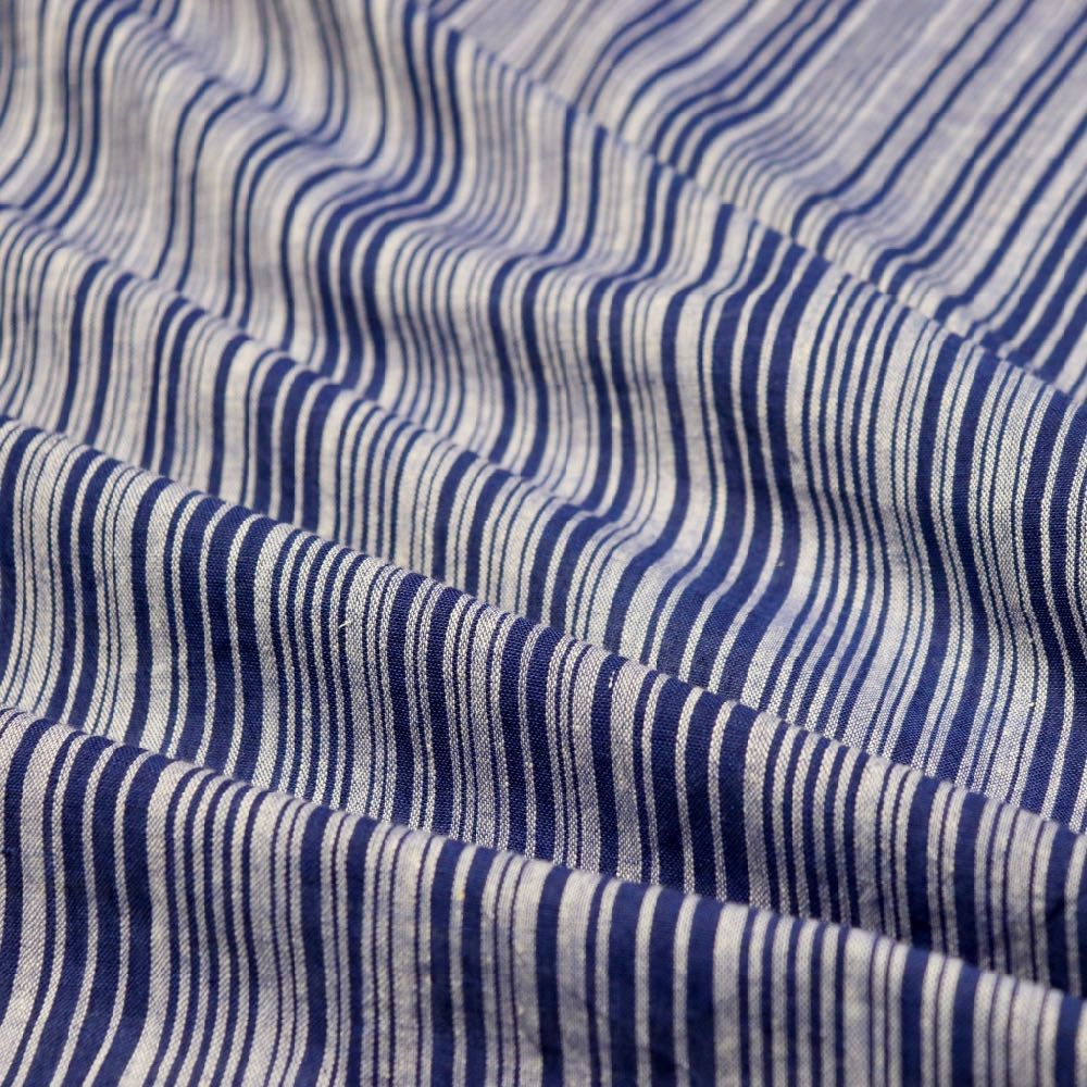 Swatch — Midnight Stripes Handloom Cotton