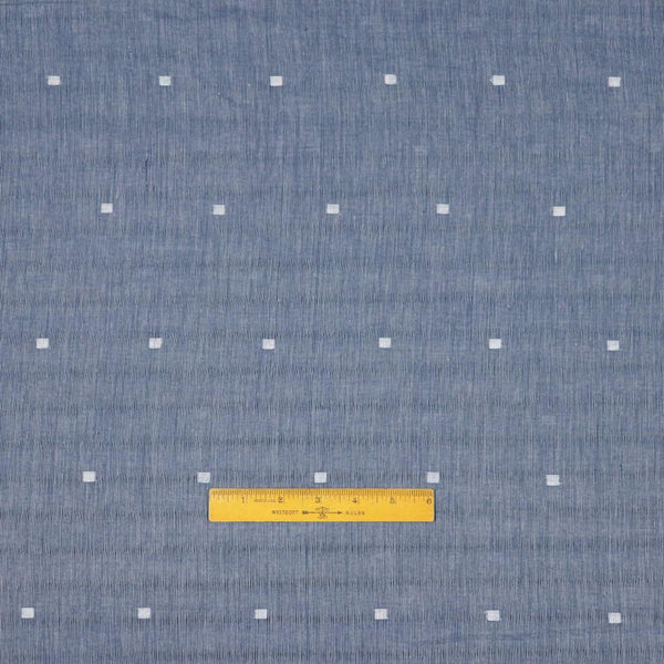 blue grey striped handwoven jamdani fabric