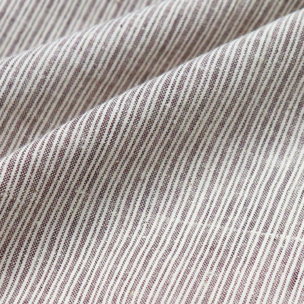 brown striped handloom cotton fabric