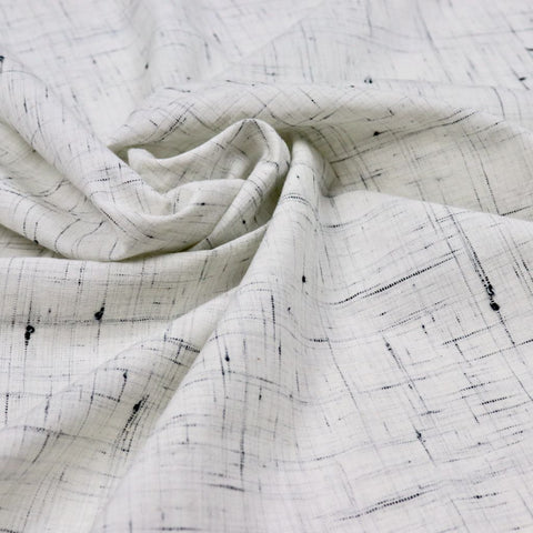 light gray and black khadi cotton fabric
