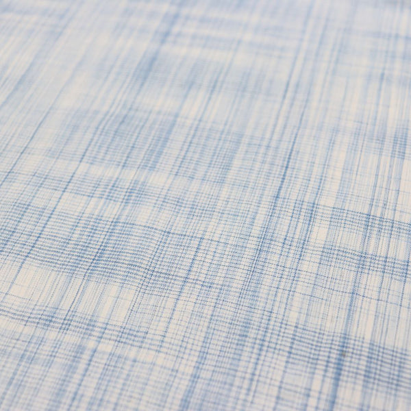 sky blue checks natural cotton sewing fabric