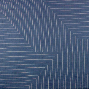 Handloom Fabric Blue and White Cotton