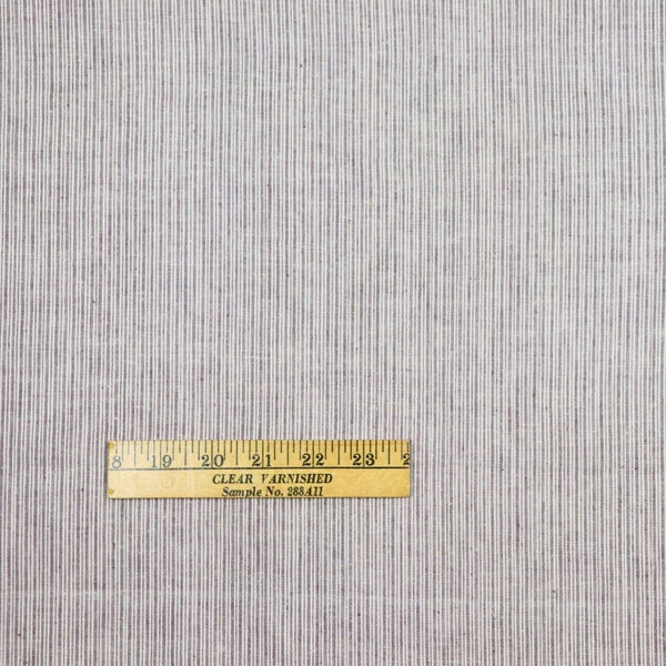 Uneven Stripe Handloom Cotton - White on Chocolate