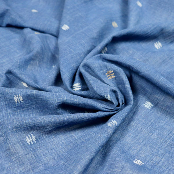 natural indigo blue handloom cotton fabric