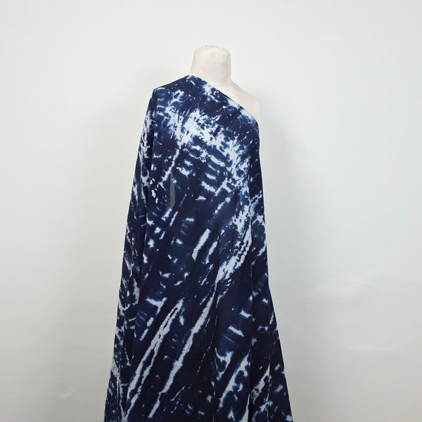 Naturally-dyed Indigo Shibori Cotton Fabric