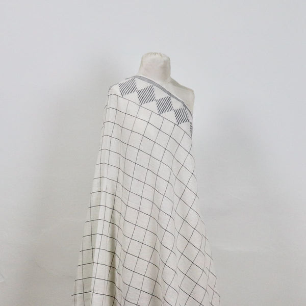 handwoven jamdani cotton linen fabric