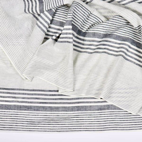 striped linen eco-conscious sewing fabric by the yard