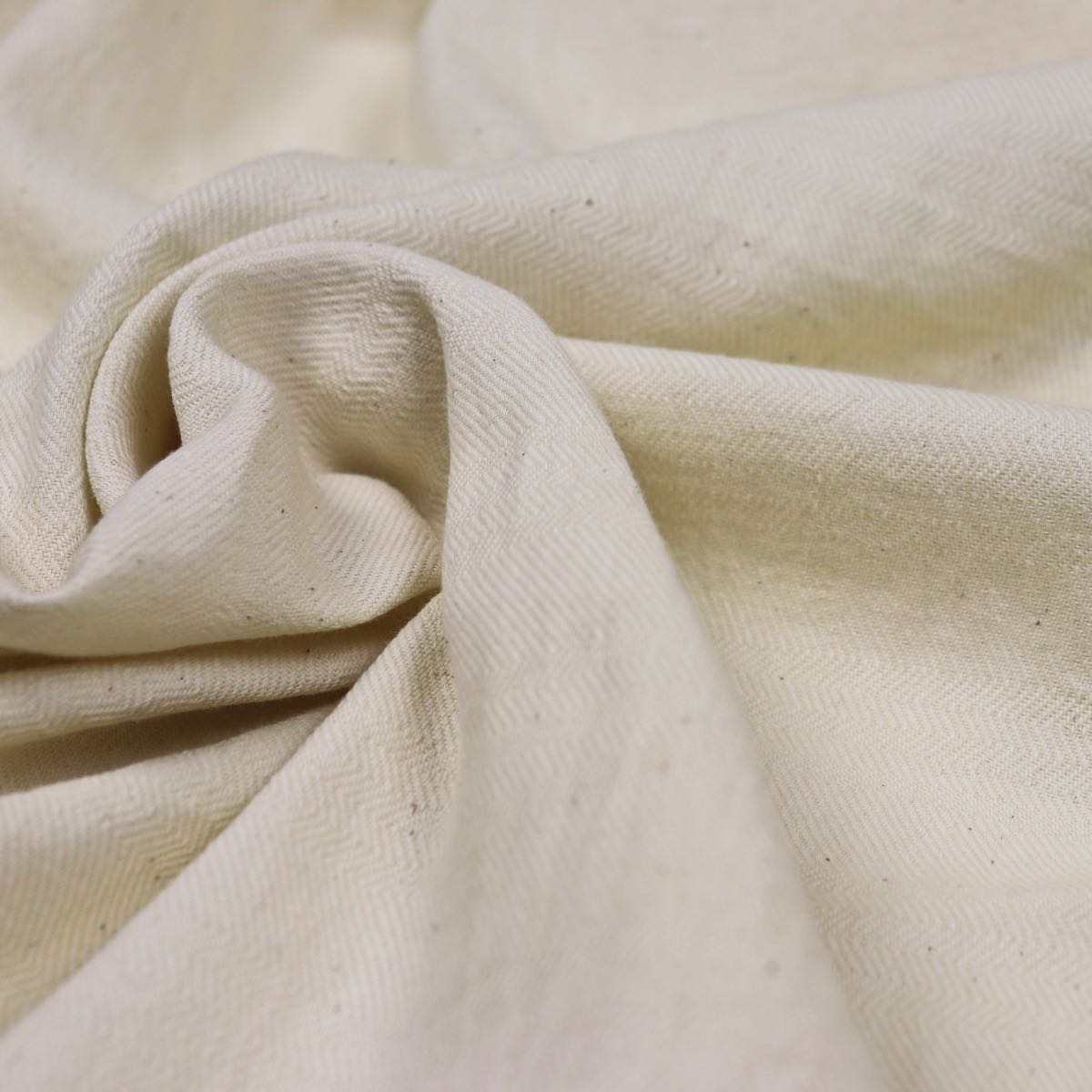 All Natural Cotton Herringbone Handloom Fabric