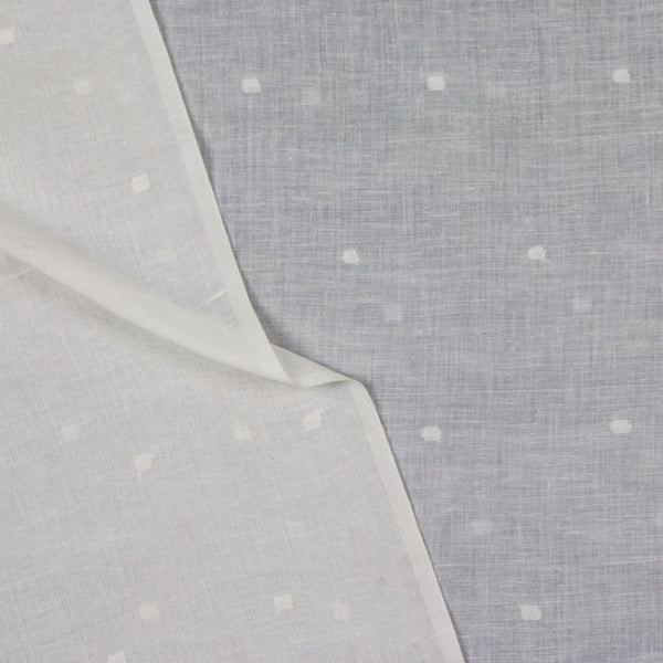 white dots cotton jamdani fabric