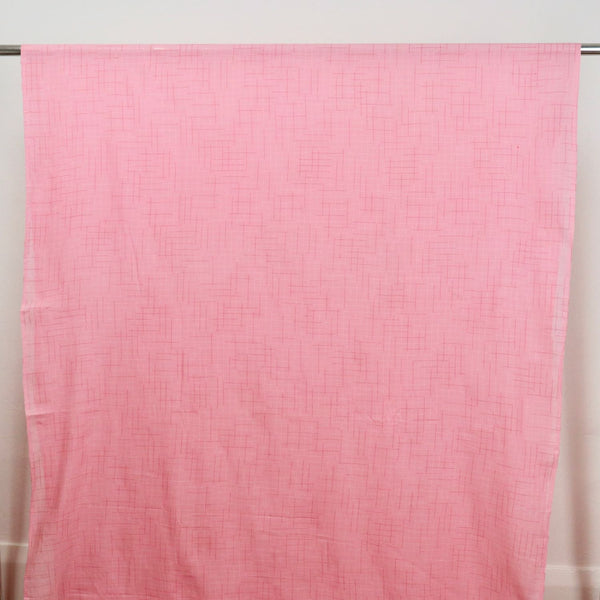 pink checked handwoven fabric