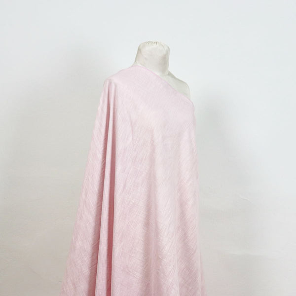 pink slub handloom cotton fabric