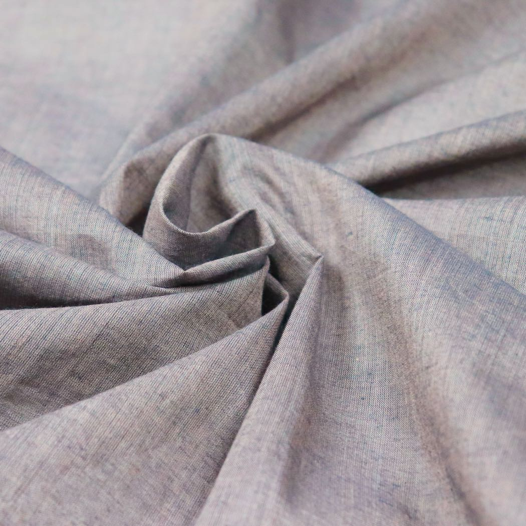rosy brown handloom cotton fabric