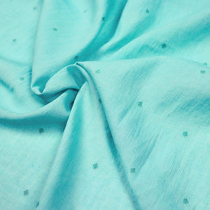 turquoise jamdani cotton fabric