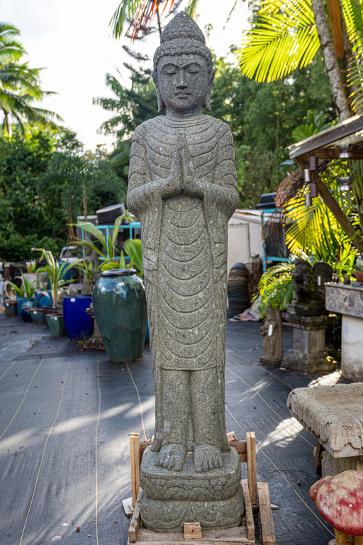 Standing Buddha in Prayer Mudra with Draped Robes
