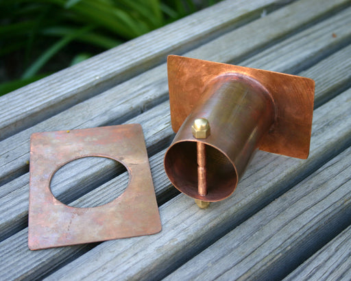 solid copper rain chain installation kit