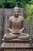 "36"" Buddha seated on lotus flower pedestal large lightweight resin statue"