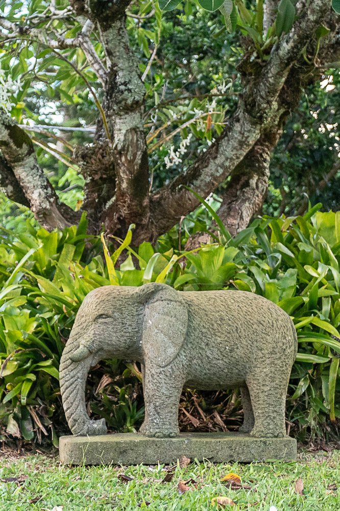 hand carved stone statue indonesian elephant for sale