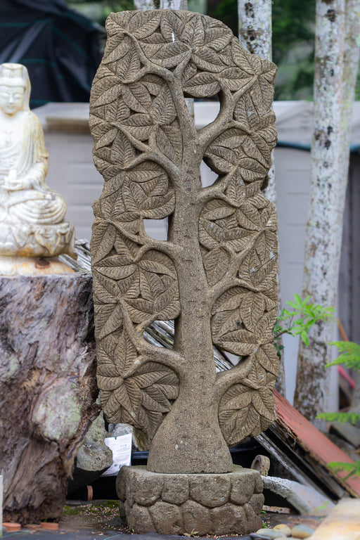 Tree of life hand carved Stone Indonesian bodhi Buddha