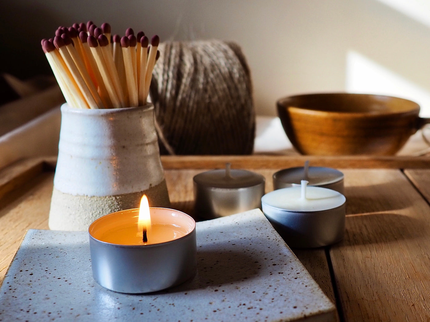 Handcrafted Ceramic Match Pot