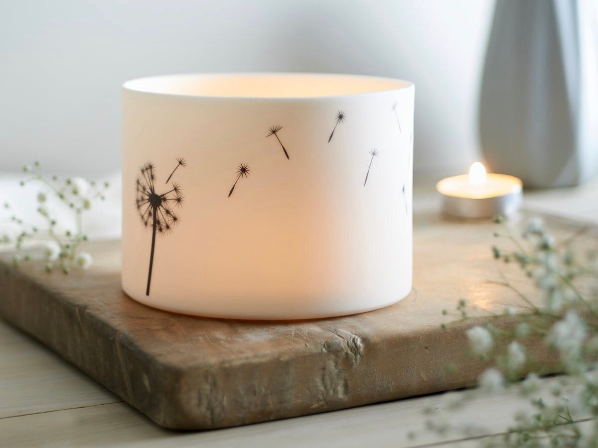 Large Porcelain Dandelion Tealight Holder by Jack Laverick
