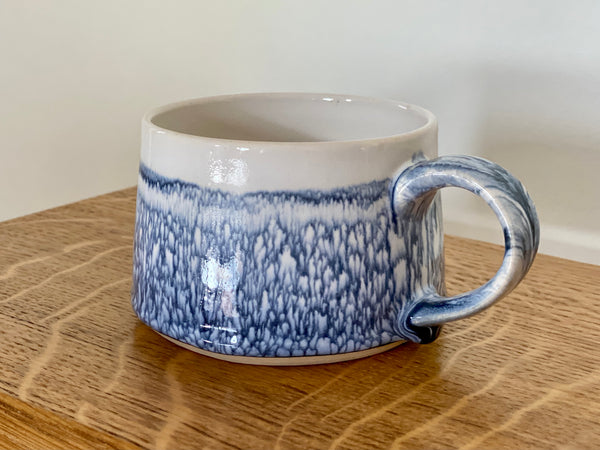 Blue and White Porcelain Coffee Cup by Gary Thomas