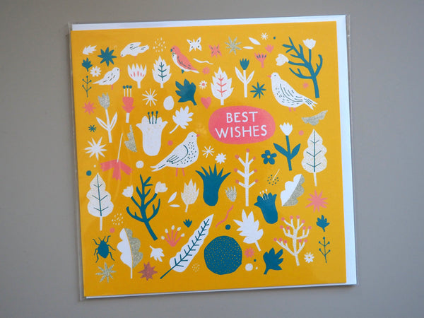 The Printed Peanut Best Wishes Card