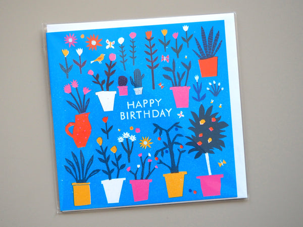 The Printed Peanut Happy Birthday Plants Card