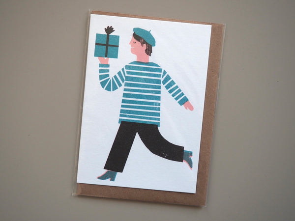 The Printed Peanut Gift Man Card