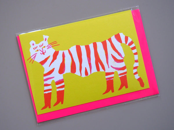 The Printed Peanut Tiger in Boots Card