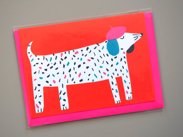 The Printed Peanut Dog in Hat Card