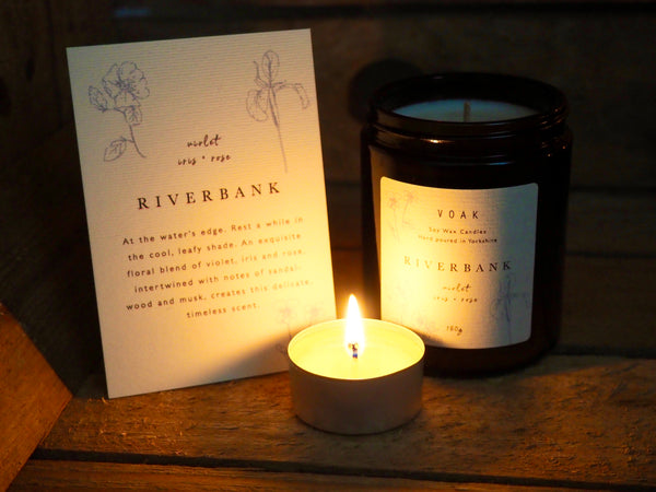 Riverbank Medium Amber Candle